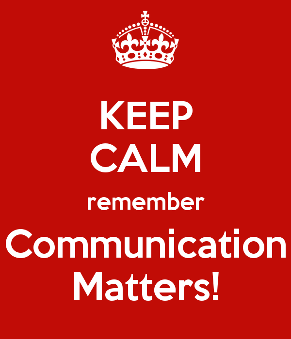 New Campaign: Communication Matters!